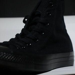 Converse Classic Black On Black All Star High Tops